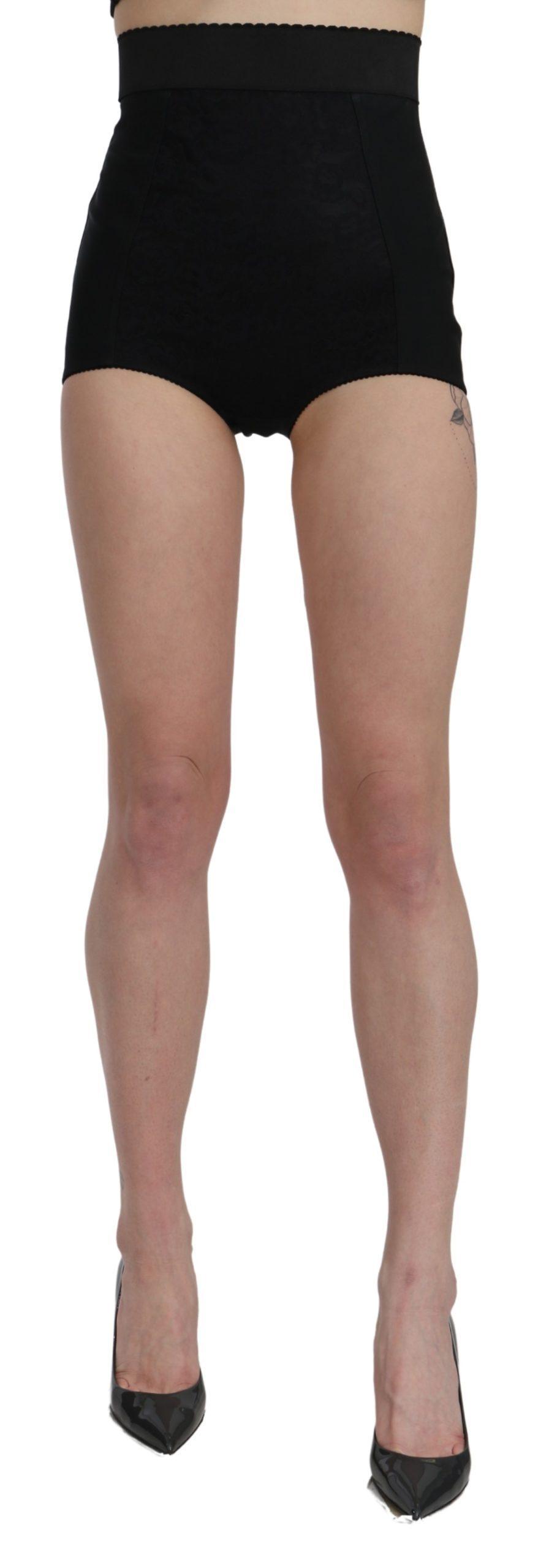 Dolce & Gabbana Women's High Waist Mini Hot Pants Nylon Shorts Black SKI1452 - IT40 S