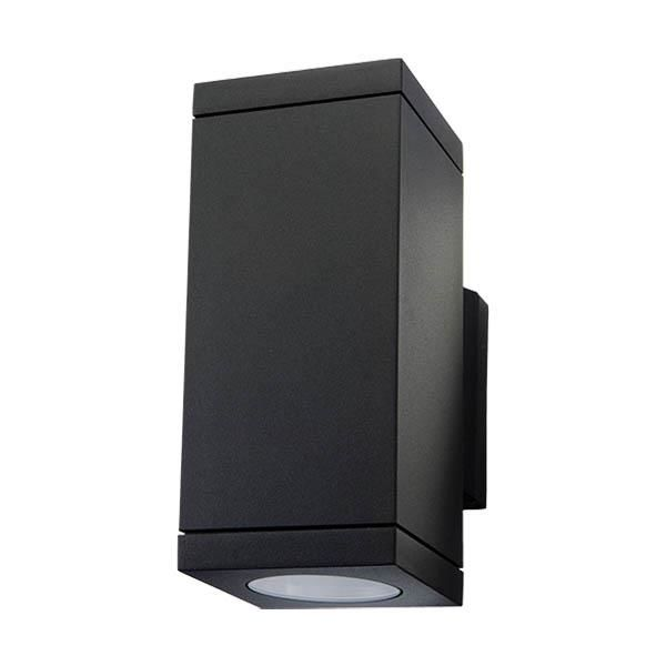 SG Armaturen Echo Seinävalaisin musta, 2 x 4,5 W