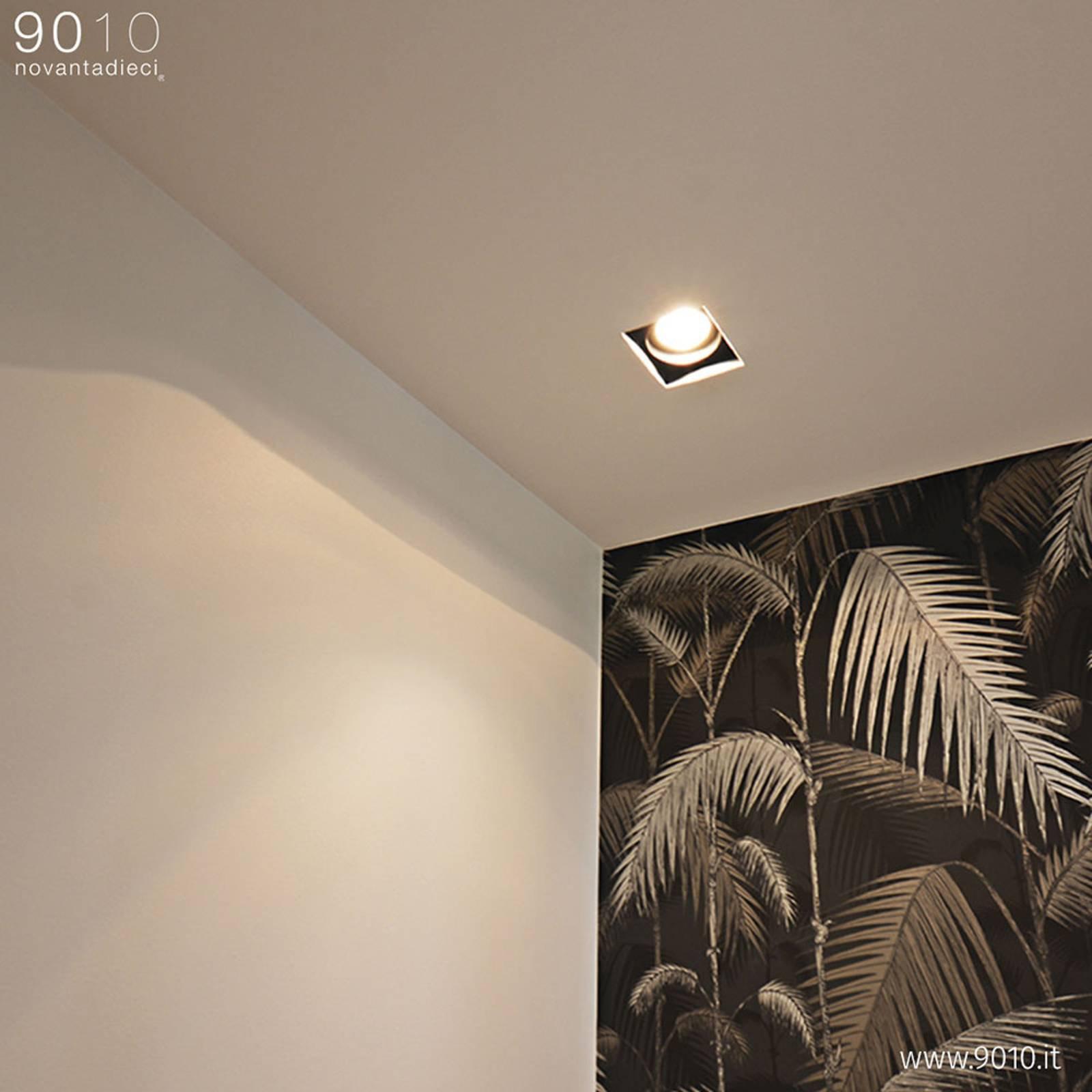 Innbygget taklampe 4246A, firkantet, 15x15 cm