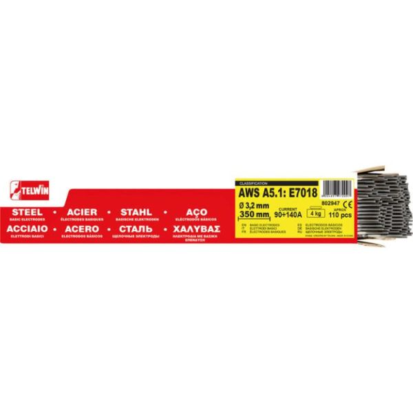 Telwin 802947 Sveiseelektroder 3,2 mm, 4 kg, 110-pakk
