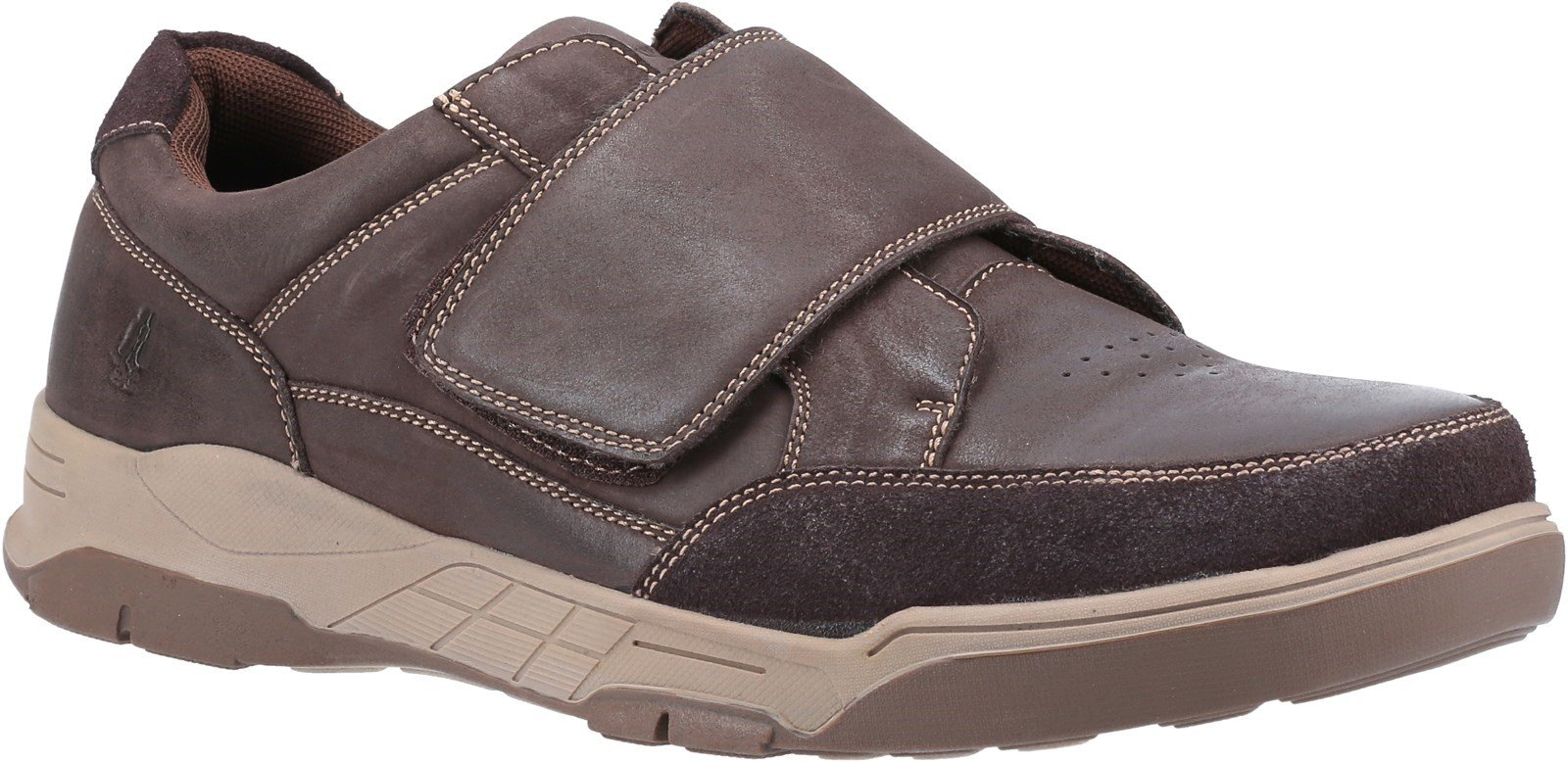 Hush Puppies Men's Fabian Touch Trainer Various Colours 32006 - Coffee 7