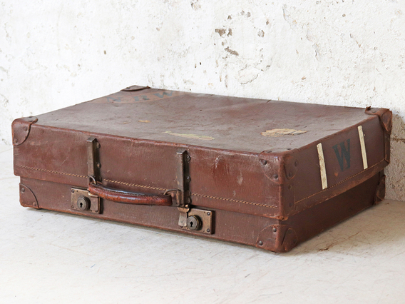Vintage Suitcase By Revelation Brown