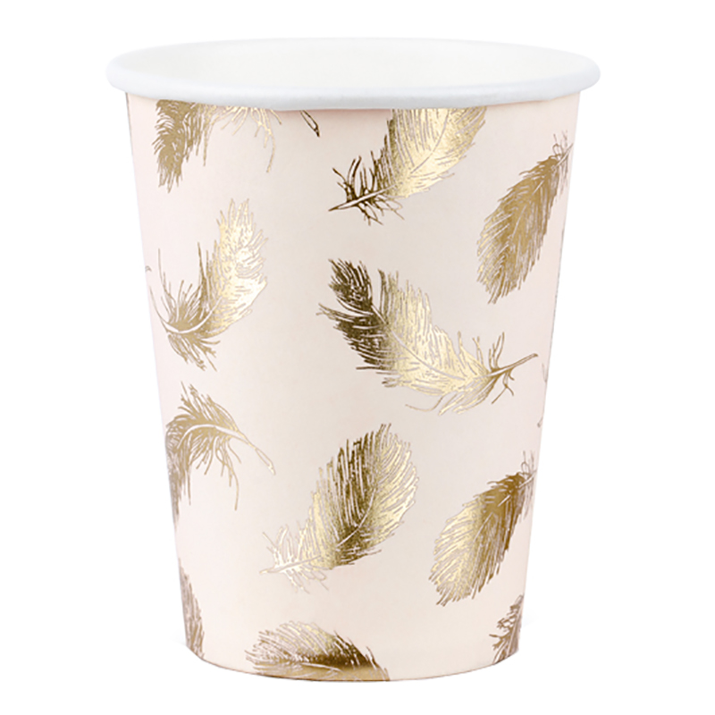 Pappersmuggar Lovely Swan Guld/Rosa - 6-pack