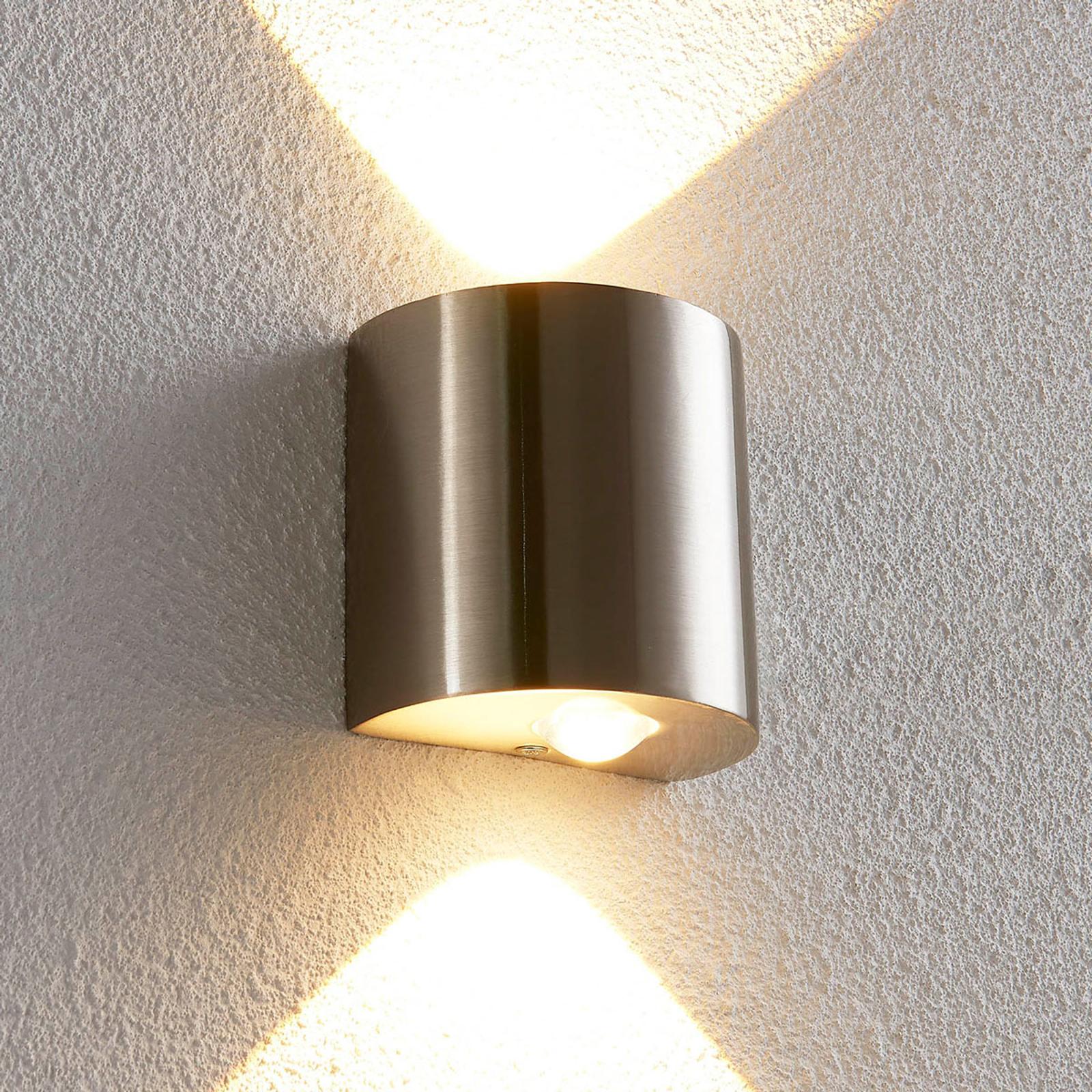 Puolipyöreä LED-seinävalaisin Lareen, satin. nikk.