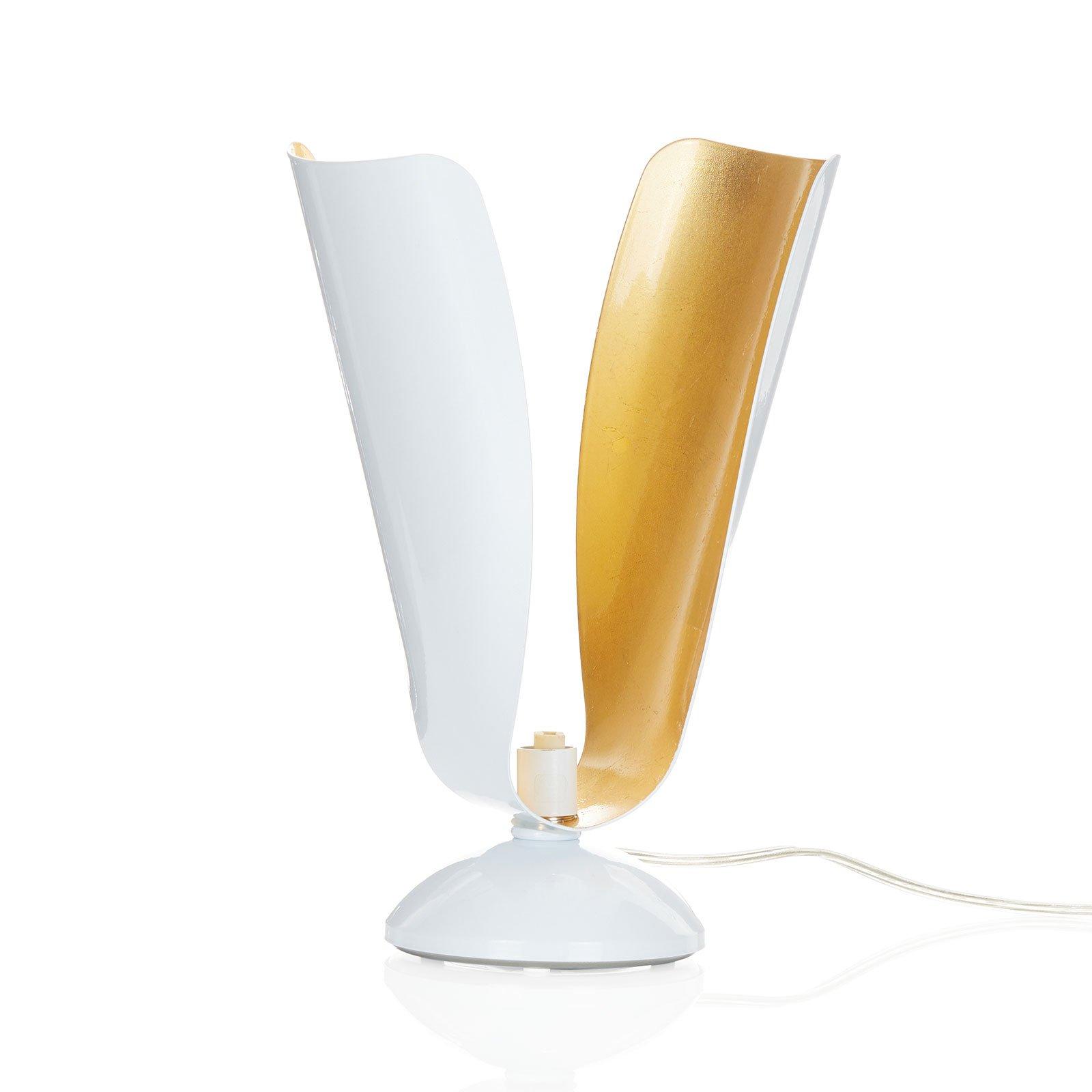 Bordlampe Tropic med bladgull