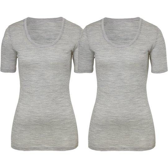 "T-shirt ""Light Grey Melange"" Small 2-pack - 67% rabatt"