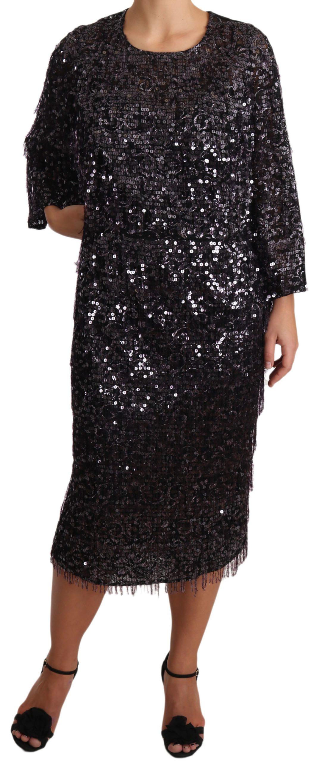 Dolce & Gabbana Women's Dress Black DR1929 - IT42 M