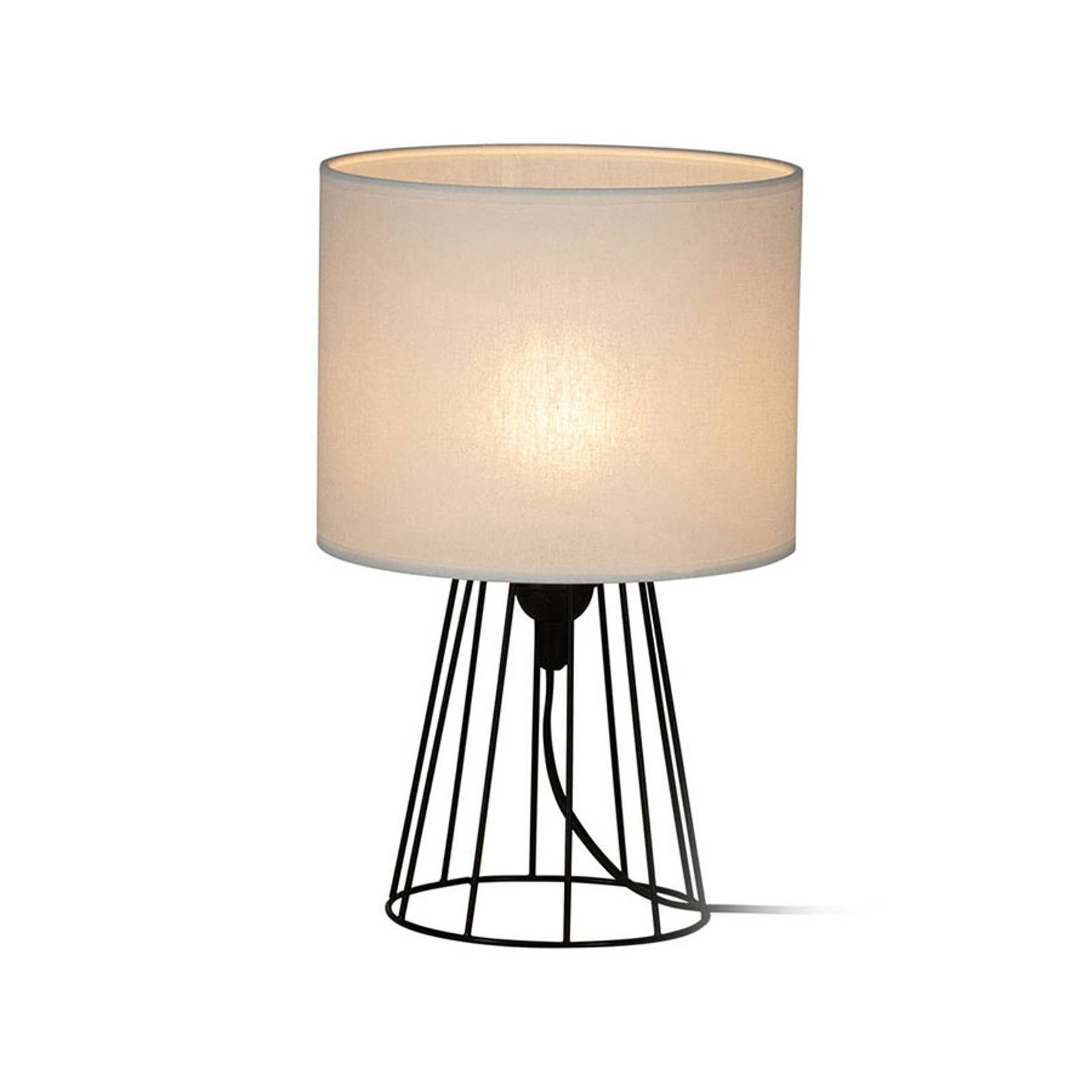 Bordlampe Valene med tekstilskjerm, høyde 32 cm
