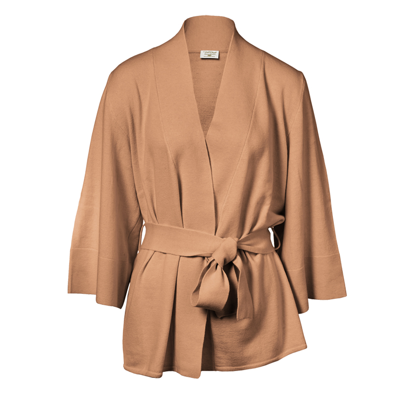 Loungewear cardigan Merinoull Kamel Stl S/M - 67% rabatt
