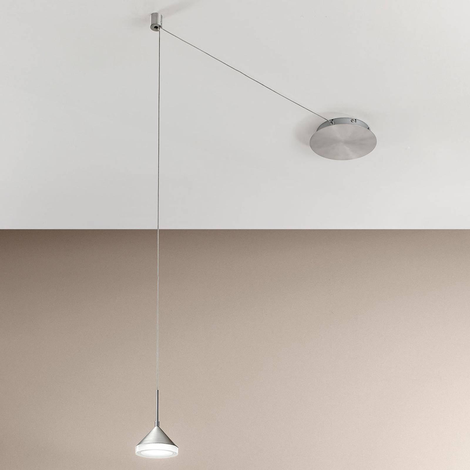 LED-hengelampe Isabella med 4 kabelspor