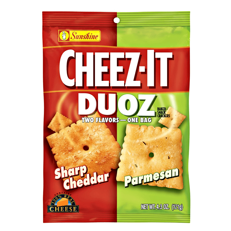 Cheez It Duoz Sharp Cheddar and Parmesan 121g