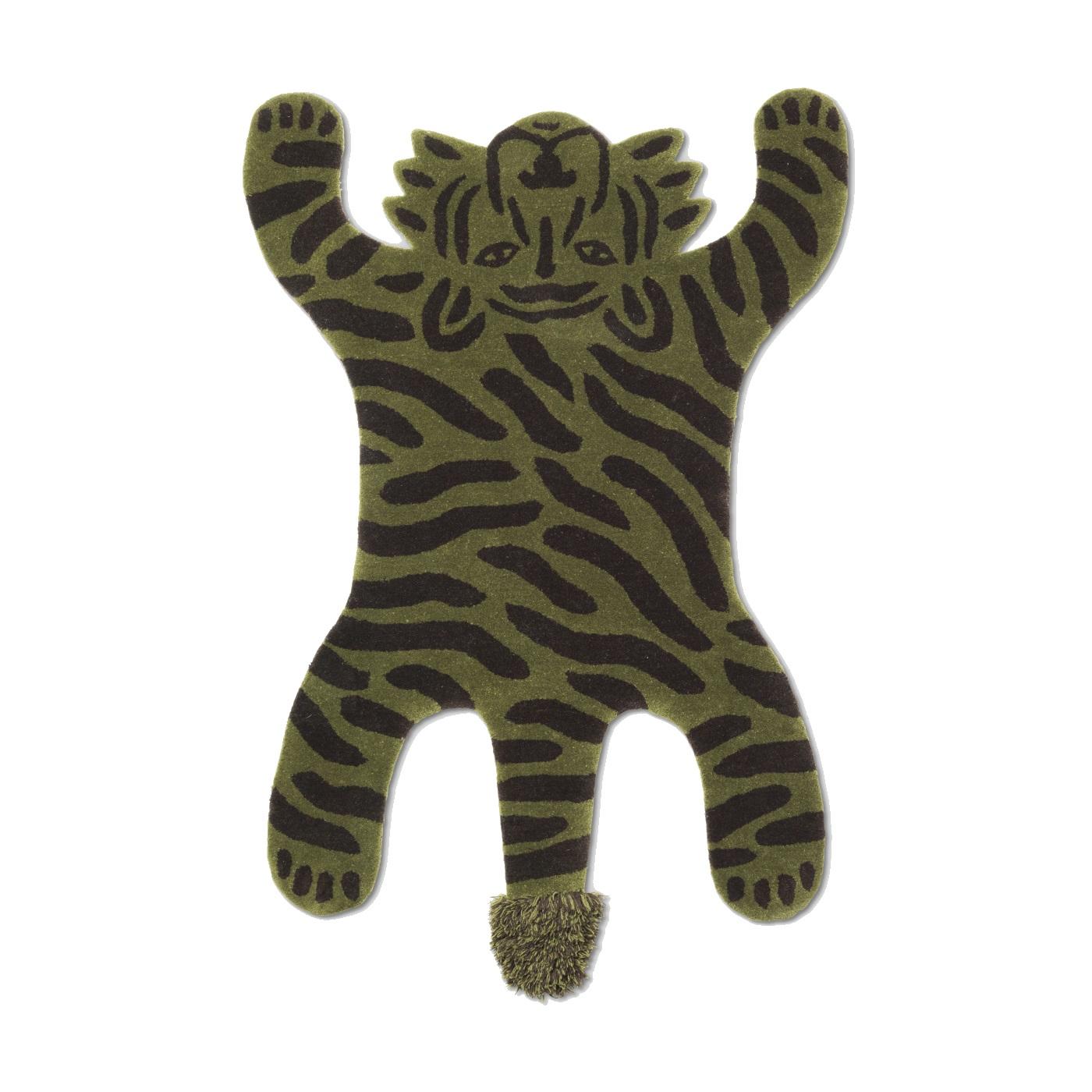 Tigermatta SAFARI grön ullmatta, Ferm Living