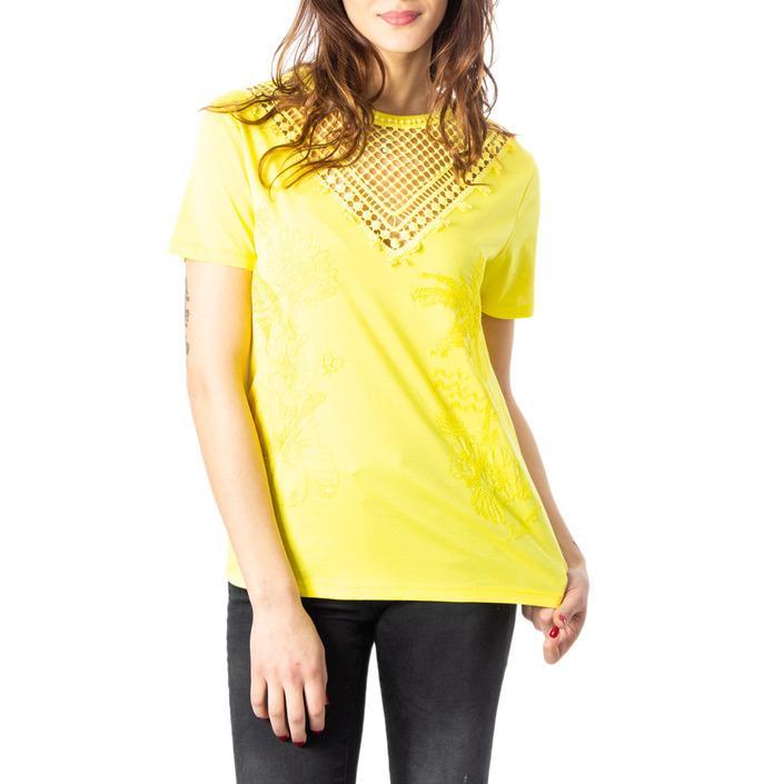 Desigual Women's T-Shirt Yellow 170593 - yellow XS