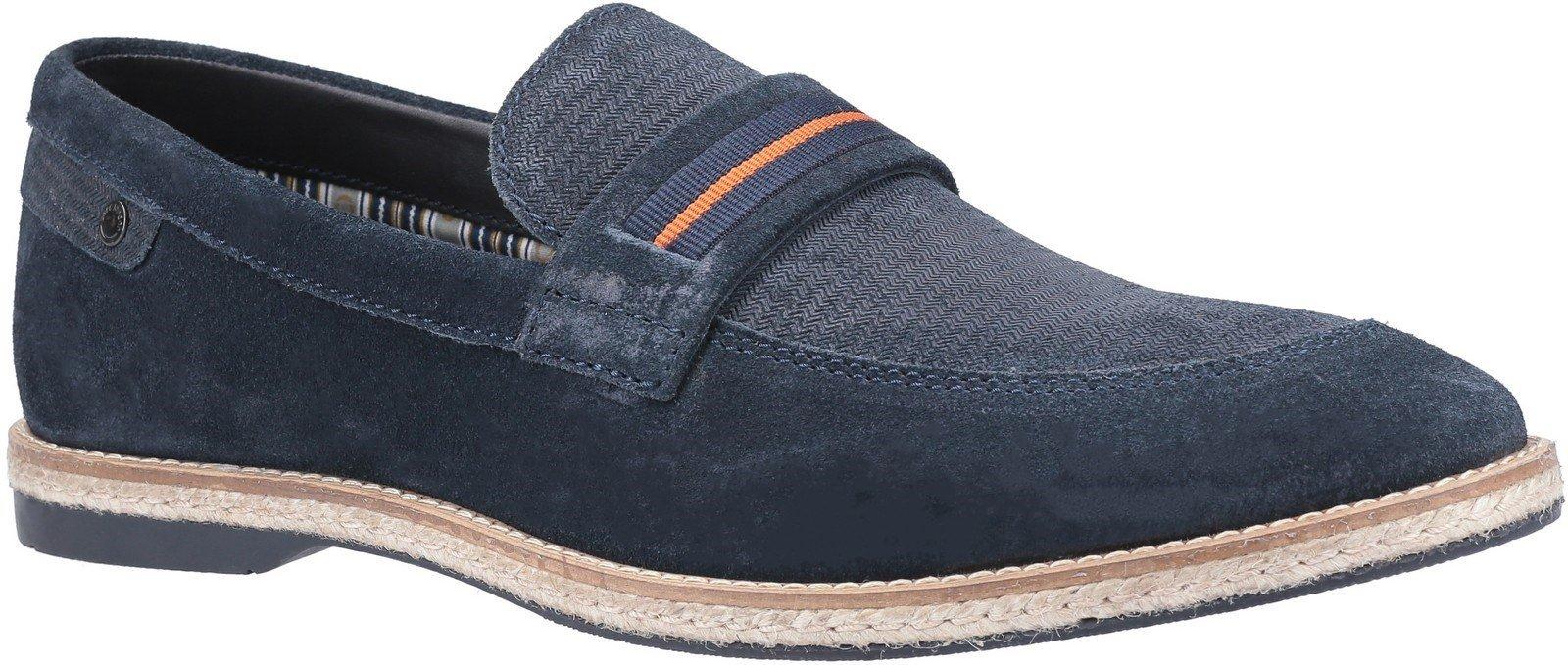 Base London Men's Kinsey Suede Slip On Loafer Various Colours 30444 - Navy 6