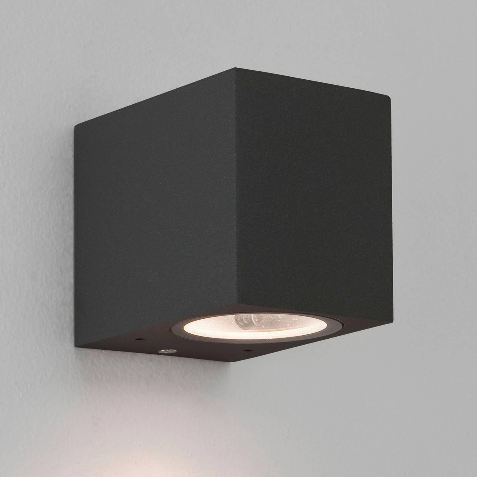 Astro Chios 80 - kompakt svart utendørs vegglampe