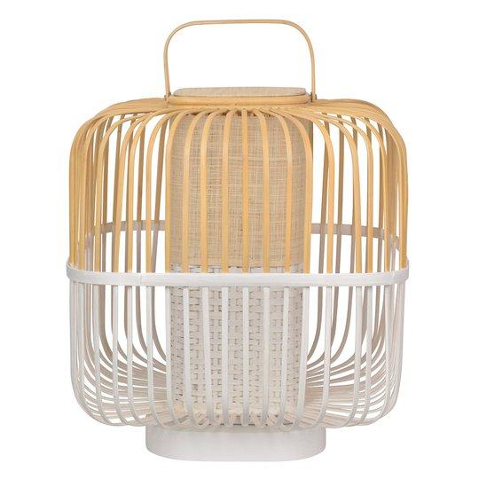 Forestier Bamboo Square M -pöytälamppu, valk.