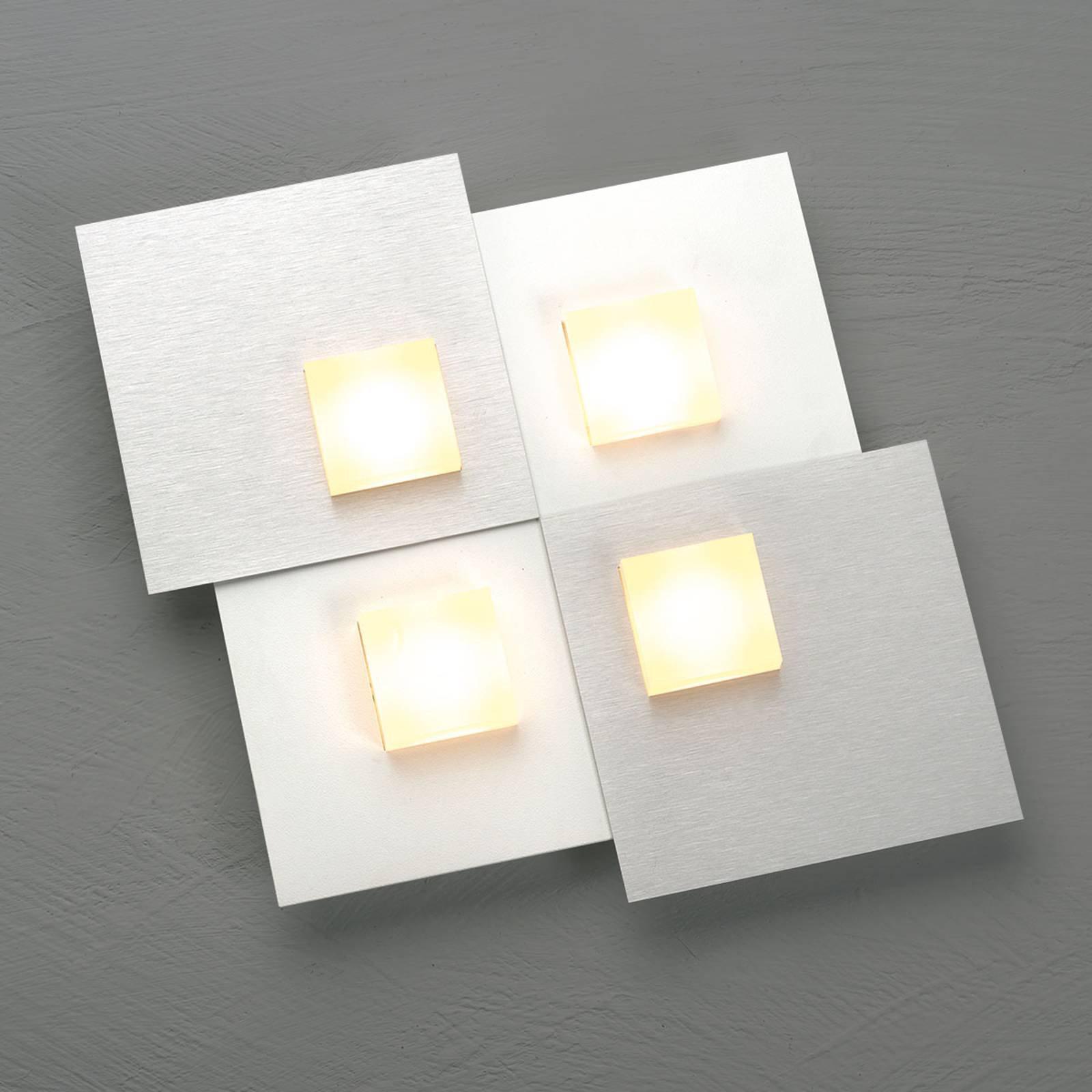 Bopp Pixel 2.0 LED-taklampe 4 lyskilder alu