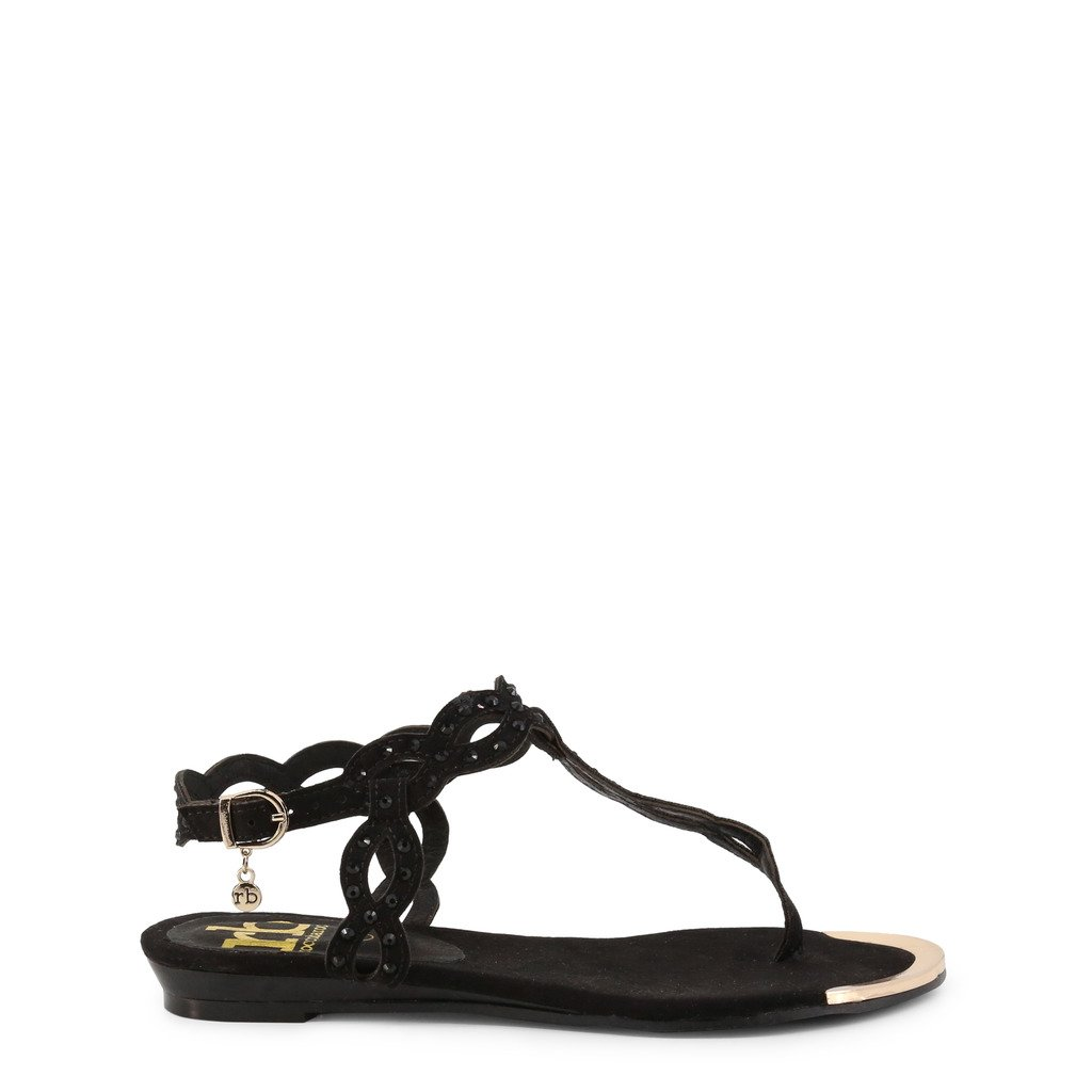 Roccobarocco Women's Sandal Black RBSC0M403CAM - black EU 35