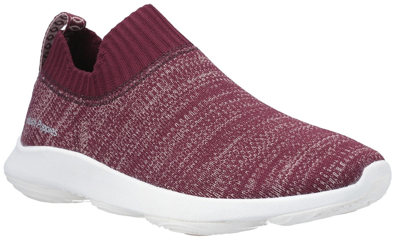 Hush Puppies Men's Free BounceMAX Slip On Trainer Various Colours 29240 - Dark Wine Knit 3
