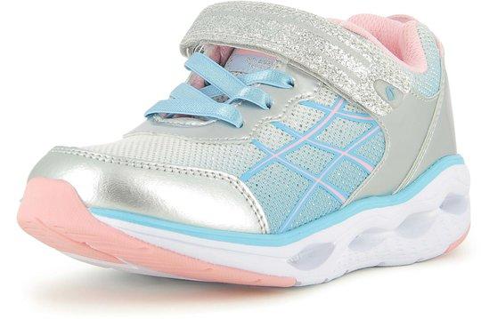 Leaf Samset Blinkende Sneaker, Silver/Pink, 23