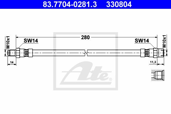 Jarruletku ATE 83.7704-0281.3