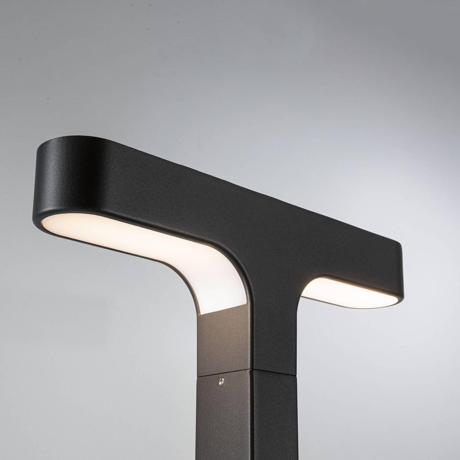 Paulmann Dobla -LED-pylväsvalo, T-muotoinen, IP44