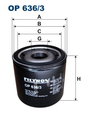 Öljynsuodatin FILTRON OP 636/3