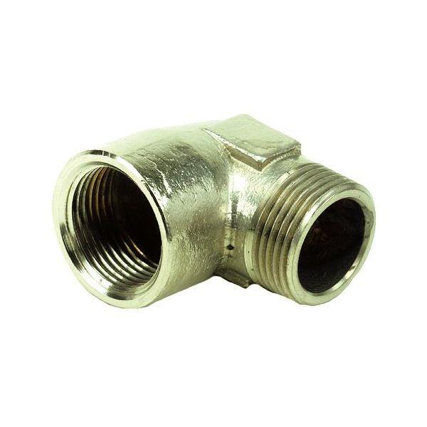 Ezze 3006092932 Vinkel metall, inv- utv gjenge G10, messing
