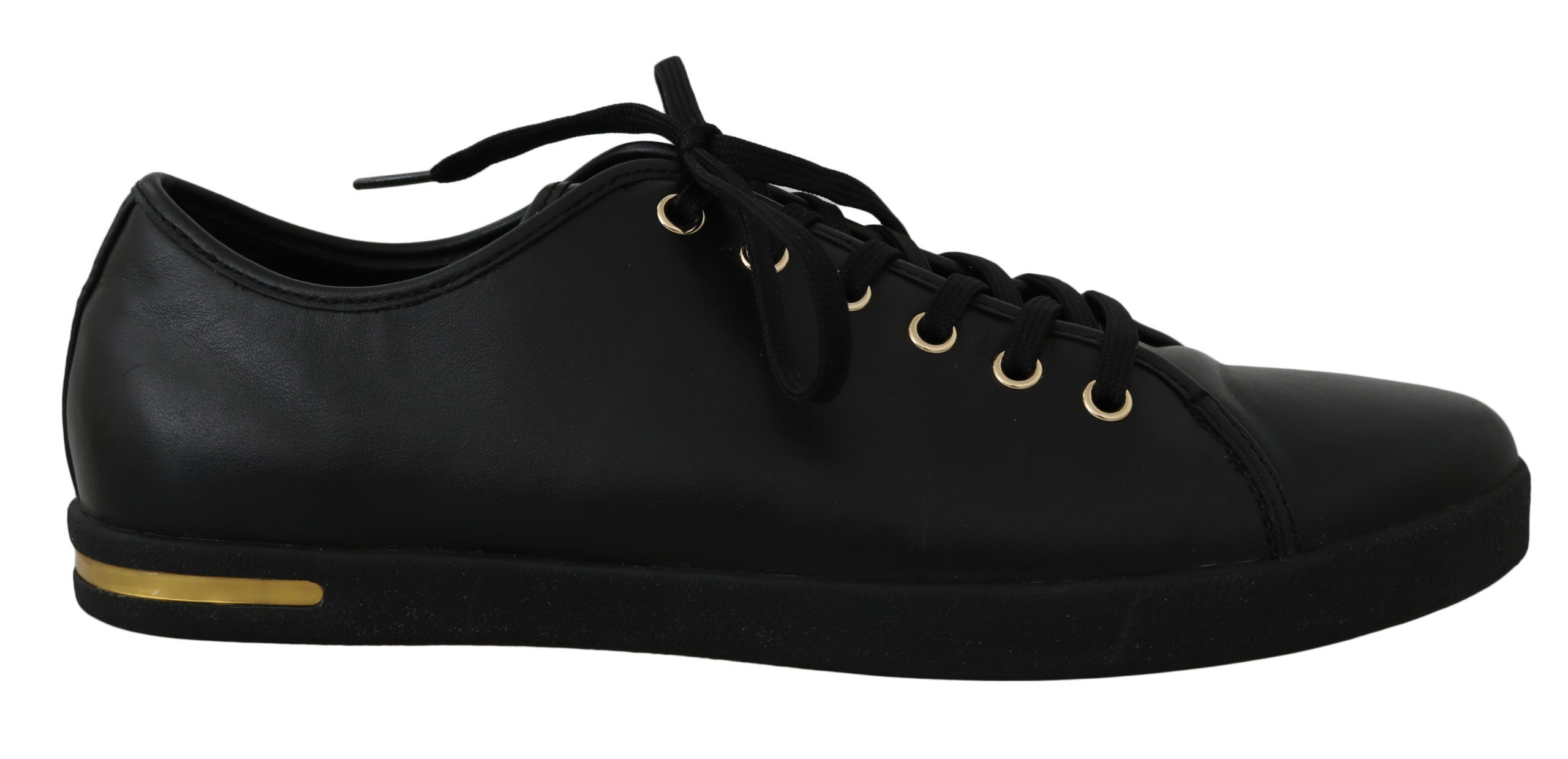 Dolce & Gabbana Women's Leather Solid Logo Trainer Black LA5817 - EU37/US6.5