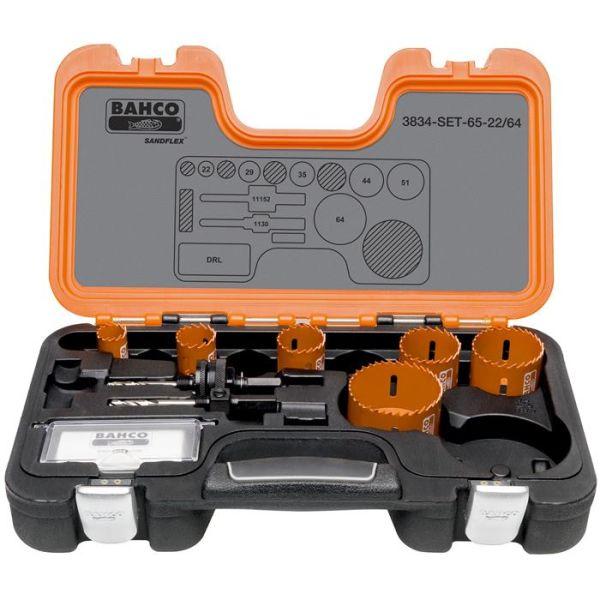 Bahco 3834-SET-65-22/64 Hullsagsett