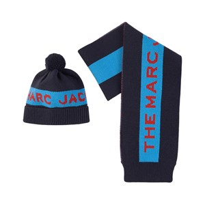 The Marc Jacobs Logo Mössa Och Halsduk-set Marinblått 2-8 år