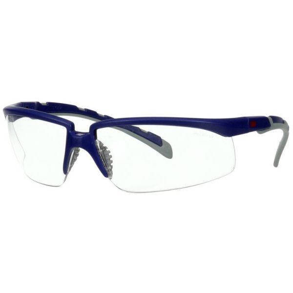 3M Solus 2000 Vernebriller Blå/grå brillestang, klar linse