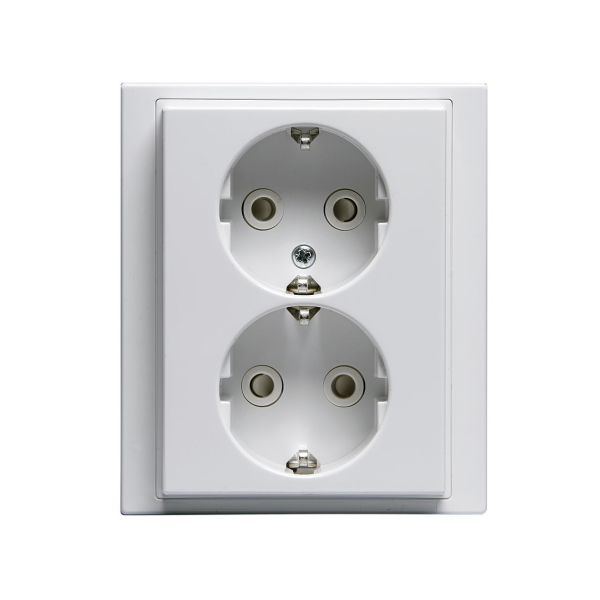 ABB Impressivo Seinäpistorasia 2-osainen, pikaliitäntä valkoinen