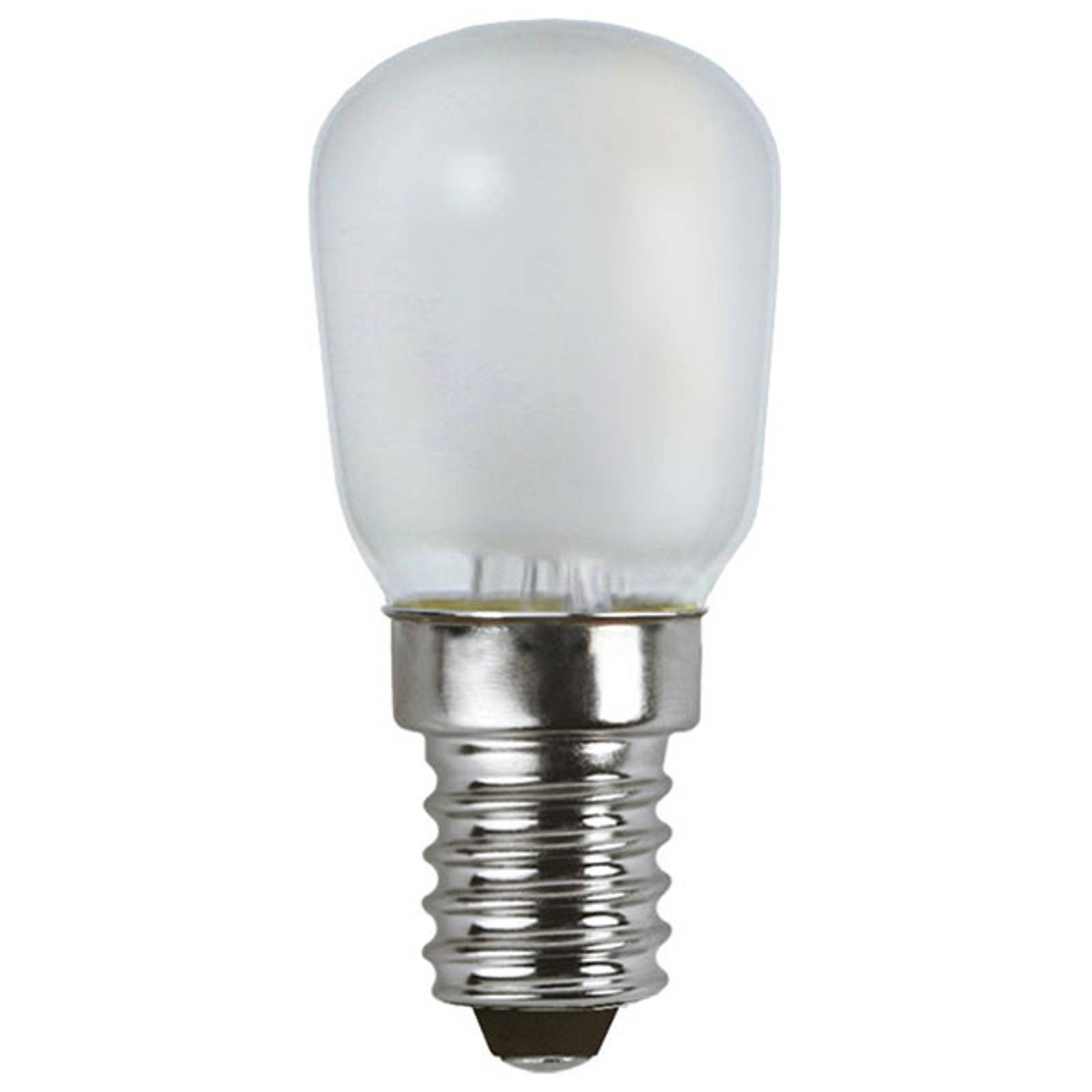 LED-lamppu E14 T26 1,3W, lämmin valkoinen, frosted