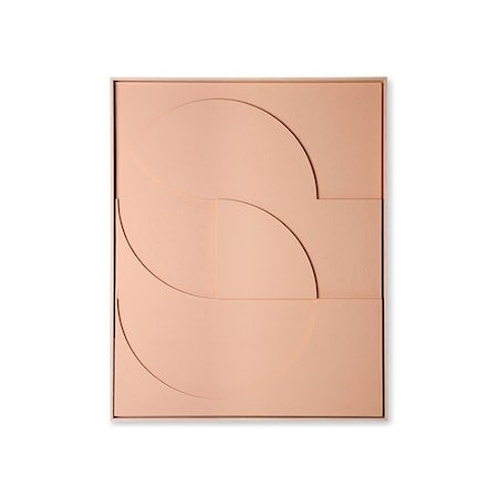 Framed Relief Art Panel Peach D Large