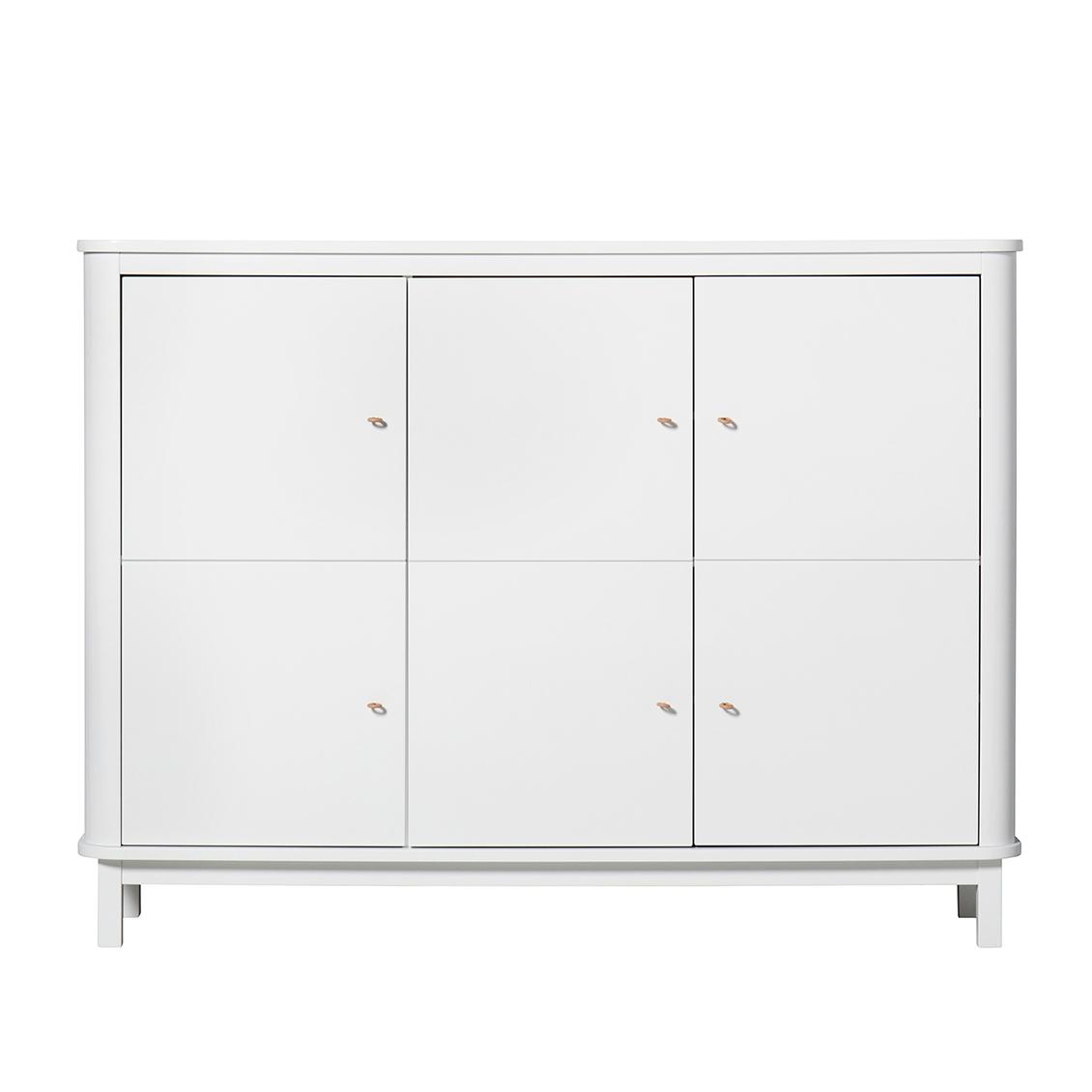 Wood multiskåp garderob vit/ vit, Oliver Furniture