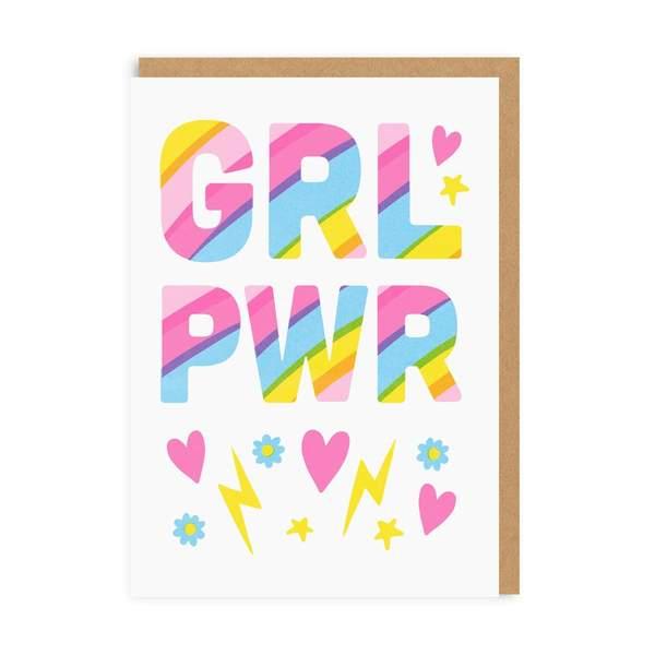 GRL PWR Greeting Card