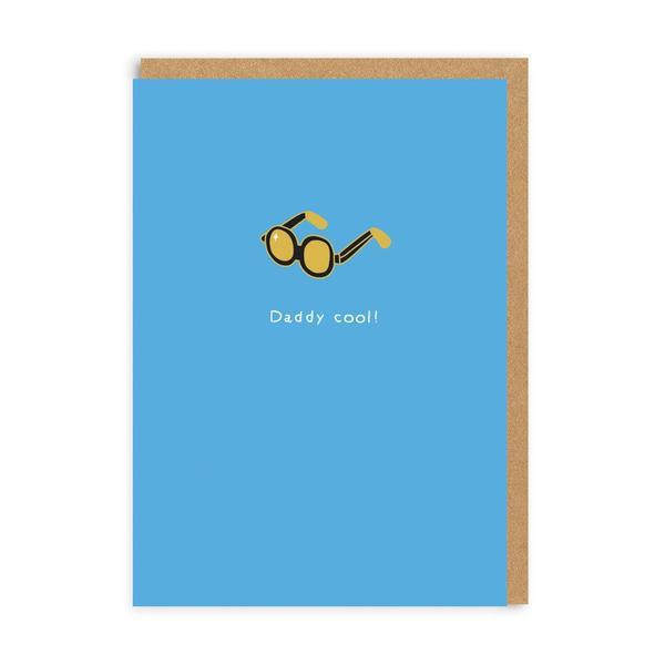 Daddy Cool Enamel Pin Greeting Card