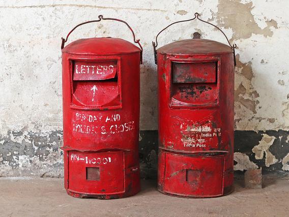 Original Indian Post Box - Large Large