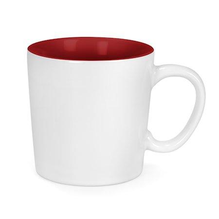 Kopp Aurora hvit/rød