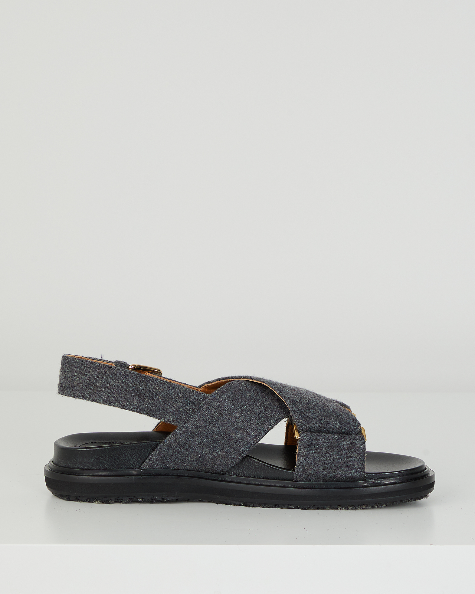 Marni Sandal Fussbett grå 37
