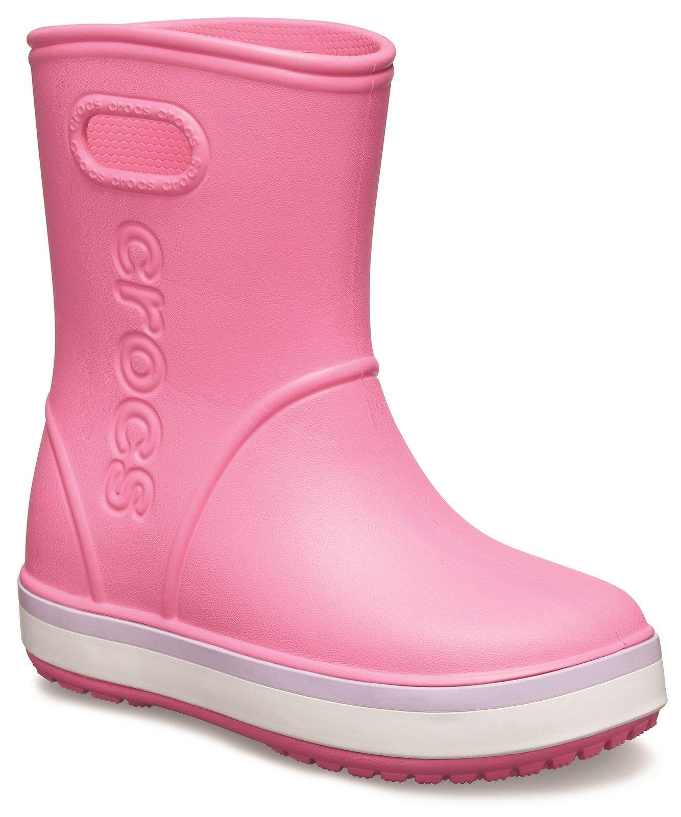 Crocs Kid's Rainboot Pull On Wellington Boot 31461 - Pink 6