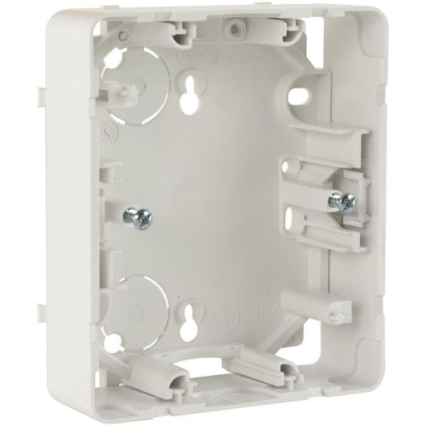Schneider Electric Exxact Forhøyningsramme for innfelte vegguttak, hvit, 2 rom