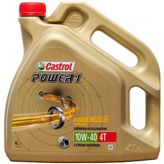 Moottoriöljy CASTROL 10W40 POWER 1 4T 4L