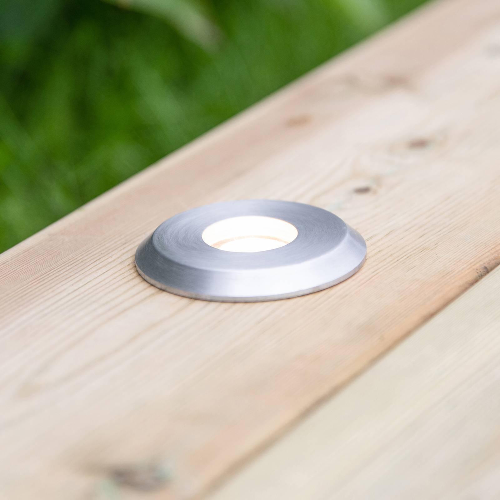 Garden 24-LED-kattovalo hopea, valo ylhäällä, 0,8W