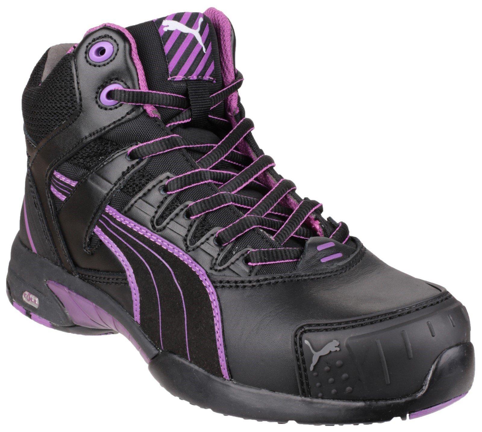 Puma Safety Women's Stepper Mid Boot Black 23088 - Black 2.5