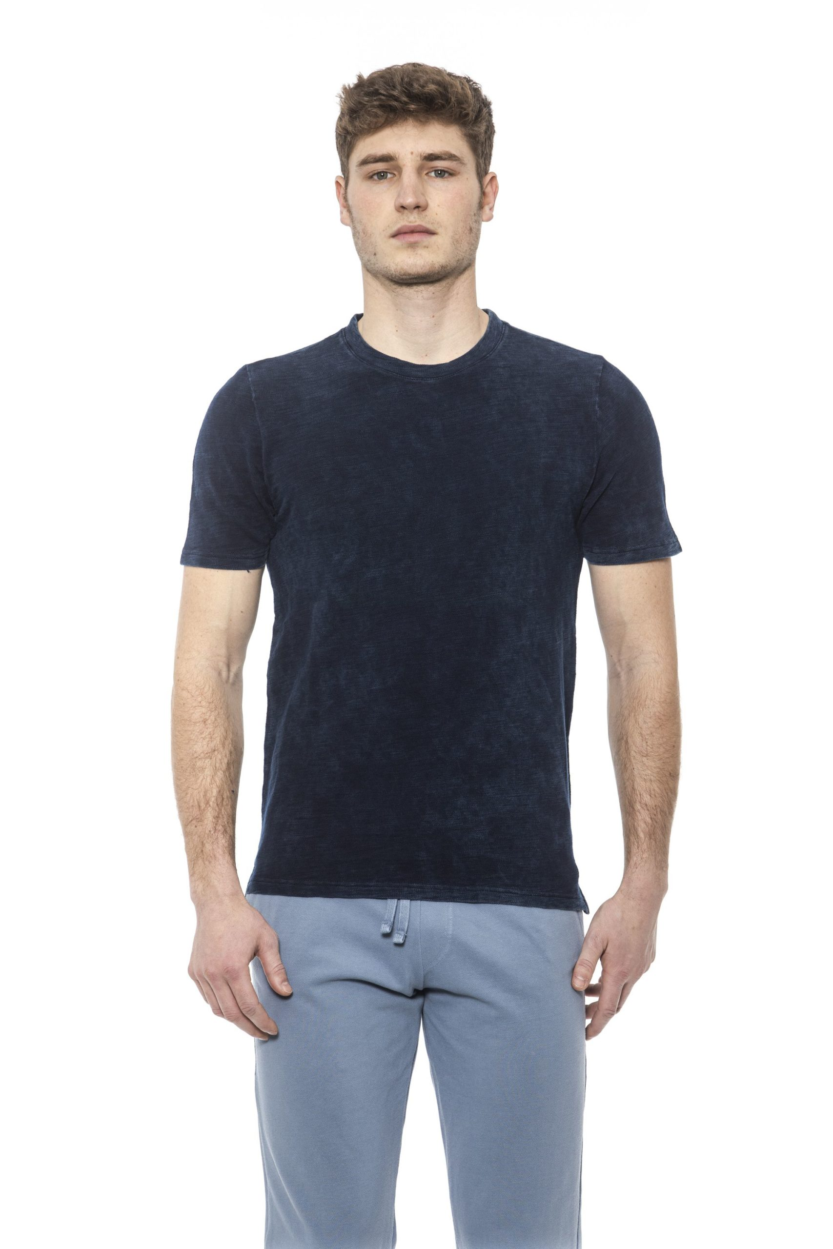 Alpha Studio Men's V A R. U N I C A T-Shirt Light Blue AL1374642 - IT48 | M