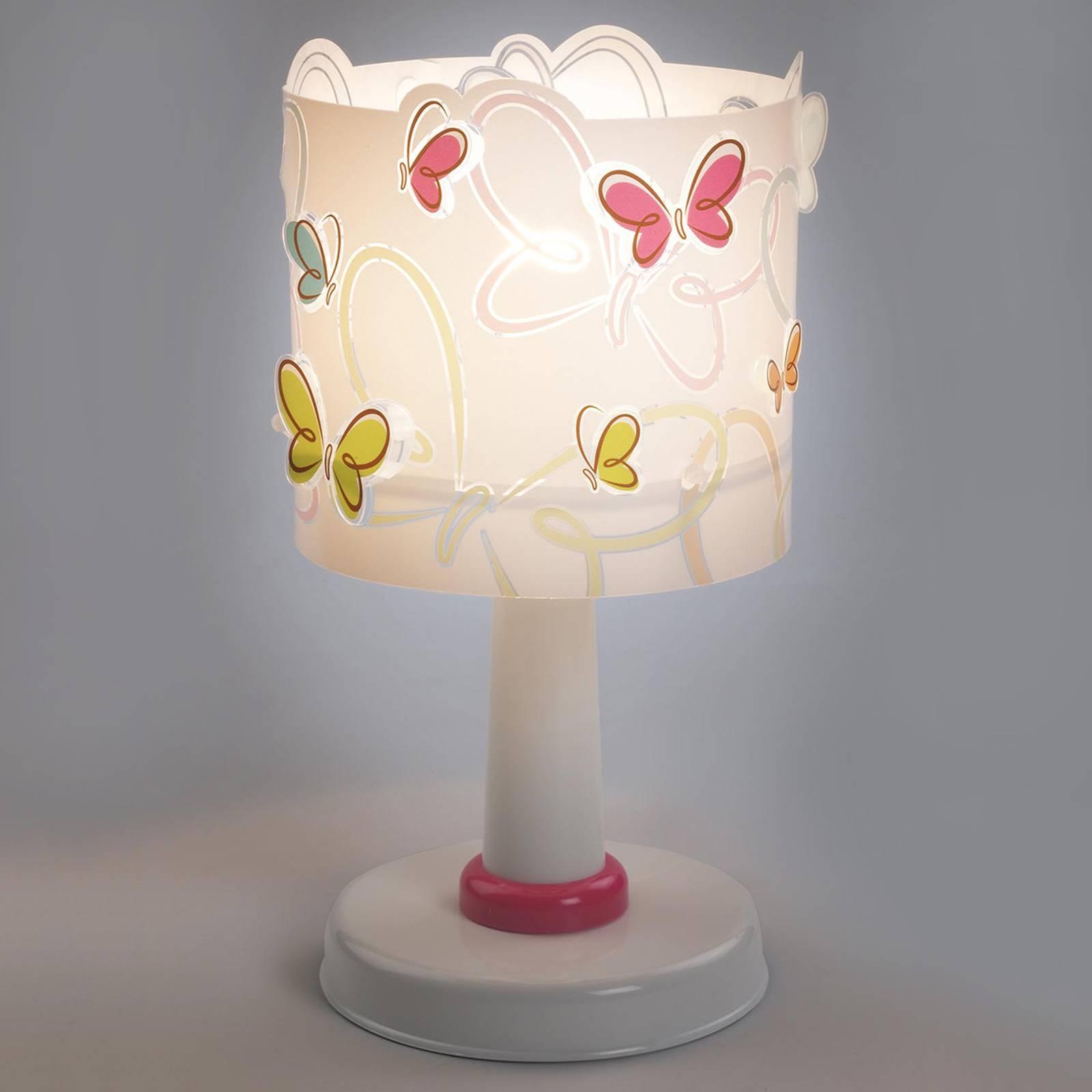Butterfly suloinen pöytävalaisin lastenhuoneeseen
