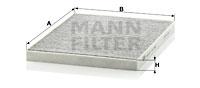 Raitisilmasuodatin MANN-FILTER CUK 3042