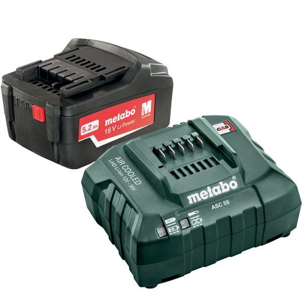 Metabo Li-Power 18V 5,2Ah, ASC 55 12-36 V Ladepakke